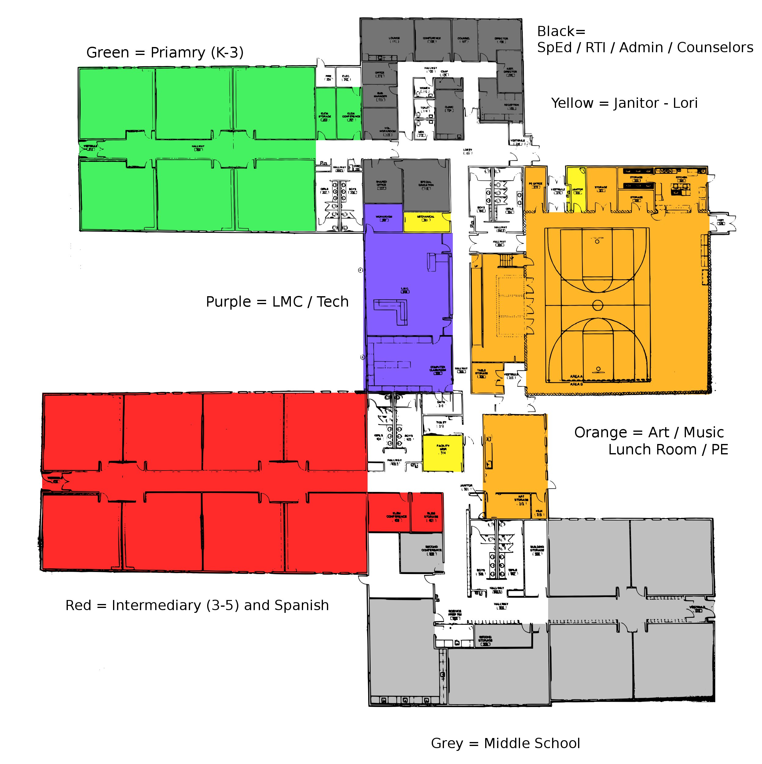Color Code Map Crown Pointe Academy Building Transition - Map color code